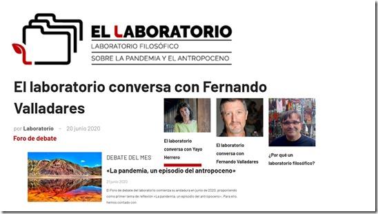 laboratorio filosofico Antropoceno junio 2020