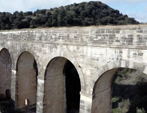 Acueducto de la Retuerta a vista de dron